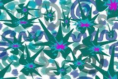 Безшовная картина покрашенных абстрактных элементов иллюстрация вектора