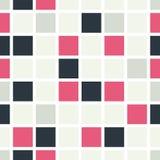 Безшовная картина покрашенных квадратов Стоковые Изображения RF