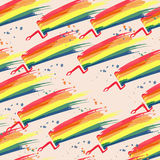 Безшовная картина покрашенных пятен с ходами щетки Стоковое фото RF