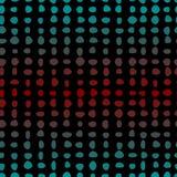 Безшовная картина покрашенных точек выровнялась вверх в строках Стоковое Изображение RF
