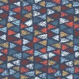 Безшовная картина покрашенных треугольников Стоковые Изображения