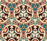 Безшовная картина, предпосылка Составленный покрашенных абстрактных форм Стоковые Фото