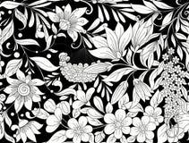 Безшовная картина, предпосылка с весной цветет магнолия, sak Стоковое Изображение RF