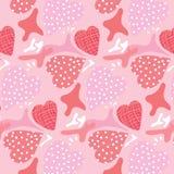 Безшовная картина, предпосылки, сердце дня валентинки Стоковое Фото