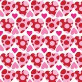 Безшовная картина, предпосылки, сердце дня валентинки Стоковое Изображение RF