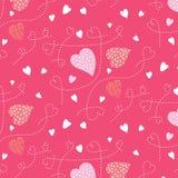 Безшовная картина, предпосылки, сердце дня валентинки Стоковая Фотография RF