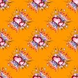 Безшовная картина предпосылки установленные сердца grunge Стоковое фото RF