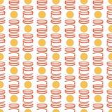 Безшовная картина предпосылки при знаки символизируя монетки иллюстрация штока