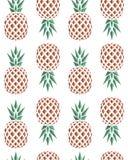 Безшовная картина предпосылки плодоовощей ананасов Стоковое Изображение