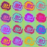Безшовная картина предпосылки роз Стоковое Изображение
