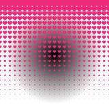Безшовная картина предпосылки сердца запаса с иллюстрацией зарева Стоковая Фотография RF