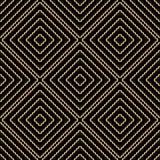Безшовная картина предпосылки с повторять бесконечные золотые волны Стоковые Изображения RF