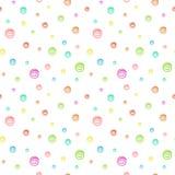 Безшовная картина предпосылки с пузырями бесплатная иллюстрация