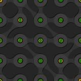 Безшовная картина предпосылки с формой metaball Стоковые Фотографии RF
