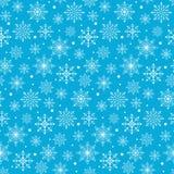 Безшовная картина предпосылки хлопьев снега зимы Стоковое Изображение
