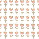 Безшовная картина предпосылки цветка тюльпана Стоковые Изображения RF
