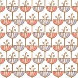 Безшовная картина предпосылки цветка тюльпана Стоковые Фотографии RF