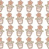 Безшовная картина предпосылки цветка Стоковое Изображение