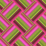 Безшовная картина при нашивки градиента, сделанные в геометрическом тексте Иллюстрация вектора