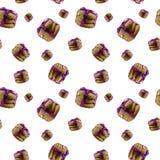 Безшовная картина при печенья масла изолированные на белой предпосылке Домодельное печенье shortbread стоковое изображение