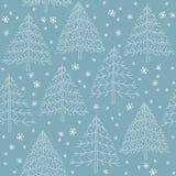 Безшовная картина пущи зимы Стоковое Фото