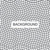 Безшовная картина пульсации повторять текстуру Волнистая графическая предпосылка Простые линейные волны Стоковые Фото