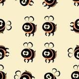 Безшовная картина пчелы Стоковые Фото
