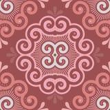 Безшовная картина плитки в цветах Marsala Стоковые Изображения RF