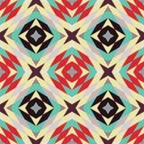 Безшовная картина - ретро геометрическая предпосылка иллюстрация штока