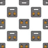 Безшовная картина роботов Стоковое Изображение