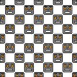 Безшовная картина роботов Стоковое Изображение RF