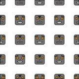 Безшовная картина роботов Стоковые Изображения RF