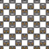 Безшовная картина роботов Стоковые Изображения