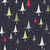 Безшовная картина рождества в ретро стиле иллюстрация штока