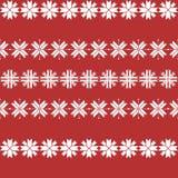 Безшовная картина рождества с снежинками традиционная картина свитера бесплатная иллюстрация
