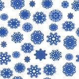 безшовная картина рождества снежинок Иллюстрация вектора