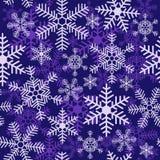 Безшовная картина рождества с различными снежинками иллюстрация штока