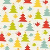 Безшовная картина рождества Стоковое Изображение RF