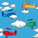 Безшовная картина самолета Стоковое Фото