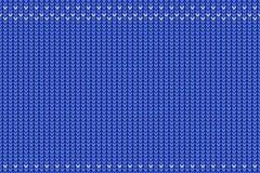 Безшовная картина связала текстуру, повторяющ цвета орнамента голубые и белые Пустой космос для вашего текста стоковые изображения rf