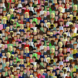 Безшовная картина связи людей в плоском стиле Стоковое Изображение RF