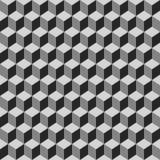 Безшовная картина серых кубов Бесплатная Иллюстрация