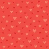 Безшовная картина сердец битника в красном цвете и апельсине Стоковое Изображение RF