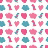 Безшовная картина сердца Стоковые Изображения RF