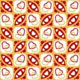 Безшовная картина сердца Стоковые Фотографии RF