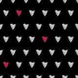 Безшовная картина сердца Стоковые Изображения