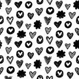 Безшовная картина сердца Стоковое Изображение