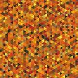 Безшовная картина симметричных треугольников цветов осени Стоковое фото RF
