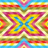 Безшовная картина: Смешивание красочных косоугольников Стоковое фото RF