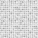 Безшовная картина снабжения doodle Стоковая Фотография